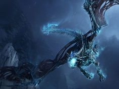 Wrath Of The Lich King Dragon Wallpaper. This wallpaper features a dragon from the second World of Warcraft game expansion, Wrath of the Lich King. Ice Dragon, Black Dragon, Dragon Art, Water Dragon, Dragon Bones, Dragon Fight, 3d Fantasy, Fantasy Dragon, Fantasy Artwork
