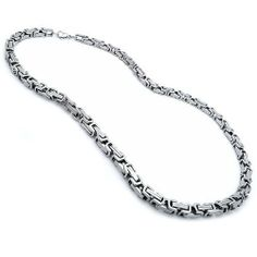 Mens Stainless Steel Heavy Link Necklace - 32IN Kriskate & Co.. $64.99