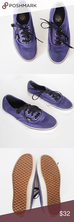 ⬇️Today Only! Vans authentic unisex purple canvas In excellent used condition. No stains or rips. Vans Shoes Sneakers