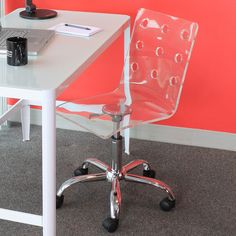 Swiss Height Adjustable Office Chair with Swivel | HedgeApple