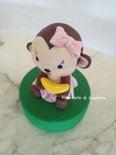 Cake Art 3D | Your topper...as you want!!! #atmosferedizucchero #monkey #scimmietta #zucchero #sugar