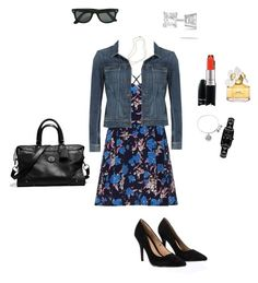 """OOTD 04/12/2015"" by ladykbaez on Polyvore featuring moda, Paige Denim, Lipsy, Coach, Brooks Brothers, Allurez, MAC Cosmetics, Ray-Ban, Karl Lagerfeld e Alex and Ani"