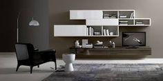 Affianco Wall Unit VI by Sangiacomo, Italy in bianco, ardesia ...