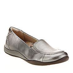 """Orthaheel Women's """"Maddie"""" Loafers in Pewter. Smarts: Removable orthotic insole helps realign your foot and ankle."""