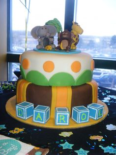 safari cake for baby shower