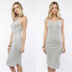 LAST SIZE SMALL! Hug Me Tank Dress Heather grey form fitting tank dress. Hugs you in the right spots while still feeling comfy. Comes in small, medium, large. This post is for our SIZE SMALL option. Brand new with tags from our boutique 'The Style'. Shop more styles at www.shop-thestyle.com www.shop-thestyle.com Dresses