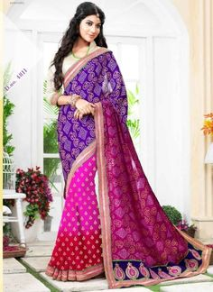 Stunning Multi Color Party Wear Designer Bandhani Sarees http://www.angelnx.com/Sarees/Party-Wear-Sarees