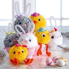 Kyckling och hare av garnbollar - Slöjd-Detaljer