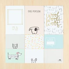 Exclusive Baxter Journal Cards: Dog at @studio_calico