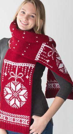 Celebration Scarf (loom knit) - Knitting Board Blog