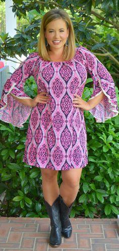 Perfectly Priscilla Boutique - Cowboy Take Me Away Dress, $47.00 (http://www.perfectlypriscilla.com/cowboy-take-me-away-dress/)