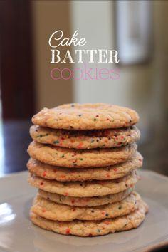 Cake batter cookies!