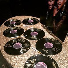Motown theme guest book idea.