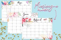 Kalendarz 2019 do druku - akwarelowe wzory - Polenka Bullet Journal