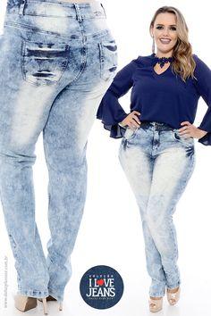 5a809d5a66 Calça Jeans Plus Size Romy - Coleção I Love Jeans - Daluz Plus Size Plus  Size