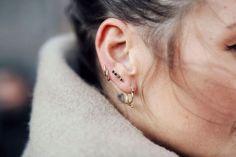Diamants Noir earring silver