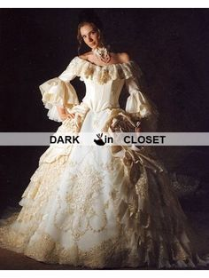Victorian Era Ball Gowns | ... -the-Shoulder 3/4 Trumpet Sleeves ...