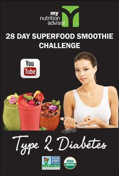 This is a 28 Day Superfood Smoothie Challenge was created for natural health with Type 2 Diabetes. Works with Vegan, Gluten-Free, Paleo, and Mediterranean diets. Be sure to discuss with your doctor and monitor blood sugar levels and adjust as needed. Learn all about how the 28 Day Superfood Challenge in our free seminar video: http://mynutritionadvisor.com/smoothiechallenge/type-2-diabetes/ #mnasmoothie Ways used Successfully By Over 38.317 Persons: treatingtype2diabetes.com