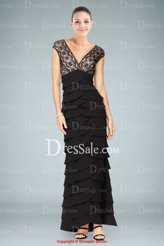 LBD  great redone to tea length in crepe or  soft street wear fabric.  Sensational  Dress with Exquisite Lace Bodice and Tiered Ruffles