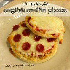 recipes food network kitchen english muffin pizzas recipe