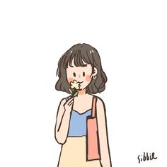 Ideas anime art girl sketch for 2019 Cartoon Girl Drawing, Girl Cartoon, Cartoon Drawings, Cute Drawings, Cute Girl Drawing, Cute Art Styles, Cartoon Art Styles, Dibujos Cute, Korean Art