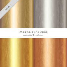 Pacote de textura metálica Vetor grátis
