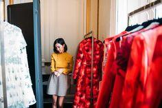 Nicole Warne in Valentino - Paris Fashion Week.  (February 2015)