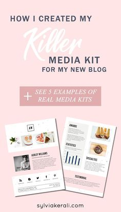 A professional looking media kit is important for positioning your new blog to potential collaborators. Learn how to create a professional media kit using Canva even if you don't have a lot of stats. | How to Create a Killer Media Kit for New Bloggers & Influencers | blogging tips, media kit, blogging for beginners | #mediakit #bloggingtips | Find more resources and inspiration for bloggers and influencers on sylviakerali.com