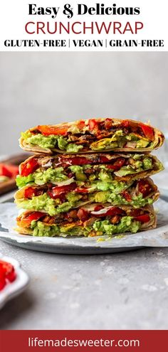Make these insanely good crunchwraps at home. This Taco Bell copycat recipe is a game-changer! Crunchwrap Recipe, Homemade Crunchwrap, One Pot Dinners, Lunches And Dinners, Meals, Lunch Meal Prep, Meal Prep Bowls, Vegan Gluten Free, Gluten Free Recipes
