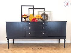 SOLD Large Grey Sideboard Strongbow Sideboard Grey