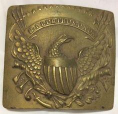 U.S.Militia Rare C1820 Us Militia Brass Belt Plate Eagle Buckle 13 Star Pre Civil War
