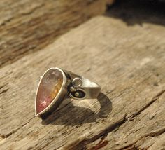 OOAK 925 sterling silver and drops of 14k gold by SabineJewelry