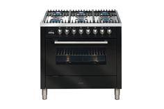 ILVE 90cm Gas Oven with Gas Cooktop - Gloss Black | Harvey Norman New Zealand