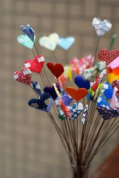 Valentines Day Origami Hearts ♥