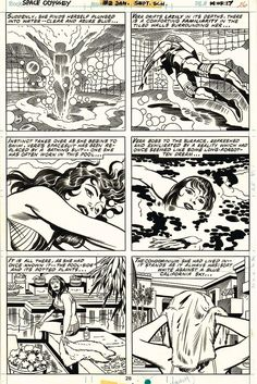 Jack KIRBY & Mike ROYER - 2001: A SPACE ODYSSEY #2 pg 26 - Bronze Age - 1977 Comic Art