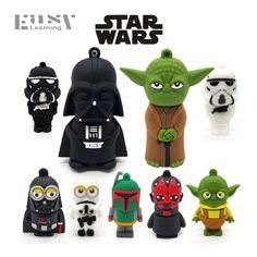 Easy Learning USB Star Wars Cartoon Pen Drive USB Flash Drives External Storage 64GB 32GB 16GB 8GB 4GB Usb Stick Pendrives Gift