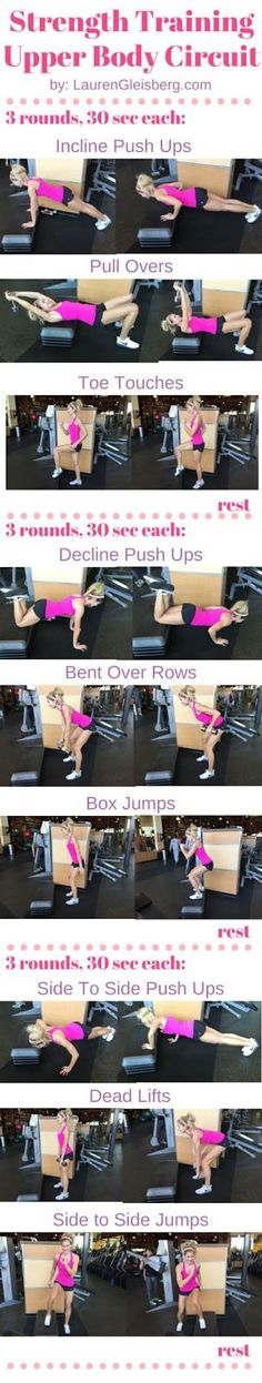 Upper Body Weight Training Circuit Workout | click for the full workout program by LaurenGleisberg.com