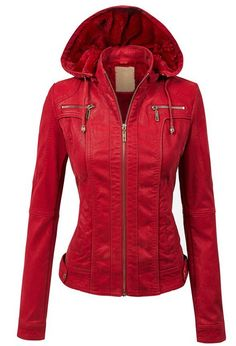 LL Womens Hooded Faux leather Jacket ✮✮✮✮  778 customer reviews. Color: WJC1029_RED. 100% POLYURETHANE (shell) 100% POLYESTER(lining) Exposed zipper details Fully lined Medium weight HAND WASH COLD / HANG TO DRY / DO NOT IRON / DO NOT DRY CLEAN. https://twitter.com/TheMarketer2015/status/644553807125417985