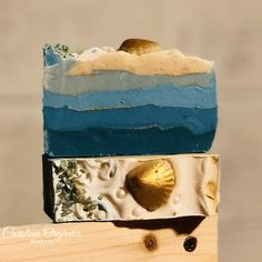 Treasure Island Cold Process soap scented in cool water. All organic oils and butters with Kaolin Clay.