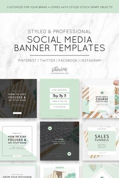 These social media templates feature the Posh Mint styled stock photos and color scheme to give you a jump start on branding your social media. Our styled stock branding photos are the perfect touch of styled and feminine themed visuals for your brand. justdarlinyall.com via @justdarlinyall