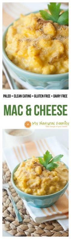 Paleo Mac and Cheese Recipe. The sauce is so good. It's basically blended up vegetables and coconut milk. This recipe puts it over cauliflower but I love it over noodles, broccoli, etc. and I don't feel guilty because it has lots of veggies and no dairy.
