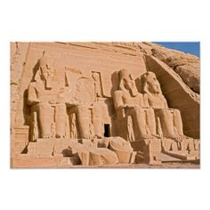Great Temple of Abu Simbel - Egypt Poster  $13.50  by DavidJallaud  - cyo customize personalize unique diy idea