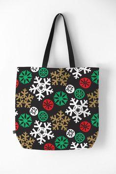 Deny Designs Zoe Wodarz Cozy Cabin Snowflakes Tote Bag #affiliate