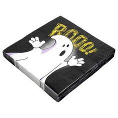Halloween Paper Napkins Boo Design 30 Pack - Halloween Party Decorations - Halloween