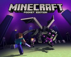 Minecraft: Pocket Edition is launching in full for Windows 10 Mobile, including dedicated Realm support, Xbox achievements, and the fabled Ender update! Join us for a Q&A with Minecraft executive producer Jesse Meriam. Minecraft Addons, Minecraft Logo, Minecraft Posters, Minecraft Banner Designs, Minecraft Drawings, Minecraft Banners, Minecraft Pictures, Herobrine Wallpaper, Minecraft Wallpaper