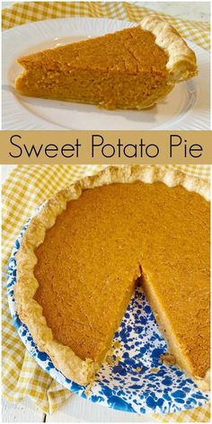 Totally delicious recipe for Sweet Potato Pie, a traditional southern pie recipe. A favorite Thanksgiving and holiday pie recipe. Homemade Sweet Potato Pie, Vegan Sweet Potato Pie, Sweet Potato Biscuits, Homemade Pie, Sweet Potato Recipes, Homemade Cakes, Paleo Vegan, Food Network, Pie Recipes