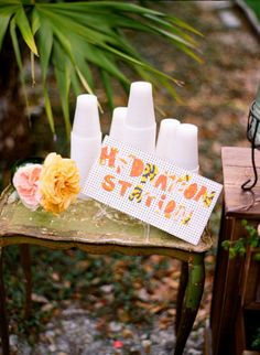"""If your wedding will be in Arizona, it's important to have a """"Hydration Station!"""" Photo by Ozzy Garcia Photography."""