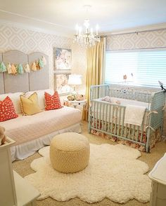 A baby girl nursery with lots of pretty details Credit to KBG Design