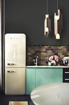 Decoração de: Detalhes; cozinha cinza e cerde; Casa de Valentina