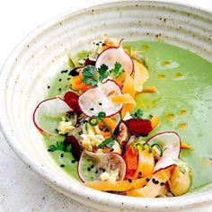"Matthew Kenney on Instagram: ""Green Curry Kelp Noodles. Red Chili Oil. Coriander. @pattkla @matthewkenneyculinary Thailand #huahin #craftingthefutureoffood"""